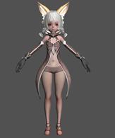 狐灵,游戏角色MM3D模型