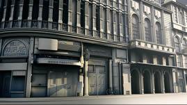 国外街道场景建筑,欧式建筑maya模型