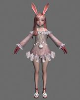 剑灵灵族MM,游戏角色3D模型
