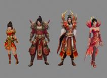 4个游戏中的npc,3D游戏角色模型