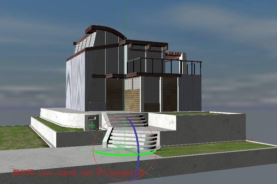 c4d别墅建筑模型