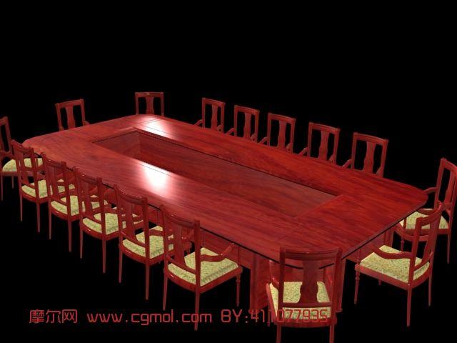 台灯3d模型  关键词:红木家具桌椅会议室