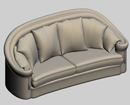 俄罗斯沙发,双人沙发3D模型