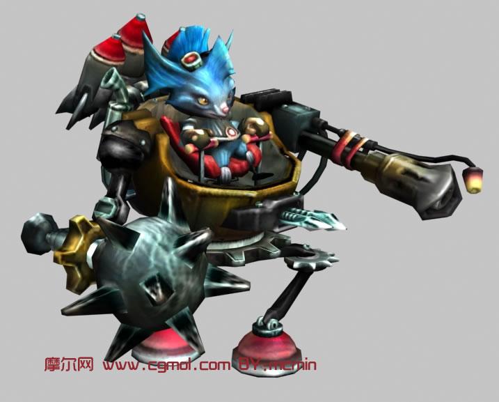 LOL英雄联盟机械公敌rumble,兰博3D模型,其他角色,游戏角色,