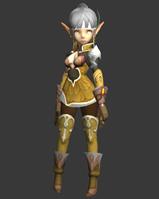 龙之谷特殊套装弓箭手3D模型