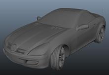 奔驰跑车maya模型