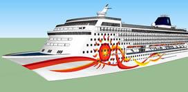 大型游轮船只3D模型