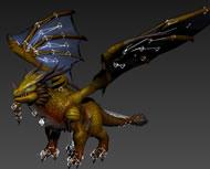 神龙,飞龙3D模型(骨骼已绑定)