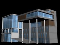 办公楼,教学楼,现代建筑3D模型