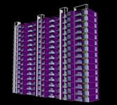 板楼,建筑楼,居民楼3D模型