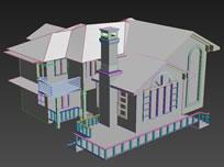 别墅简模,建筑3D模型