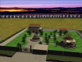 农家小院,居民建筑3D模型