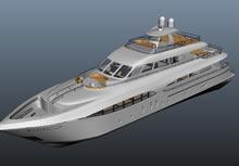 游艇maya模型