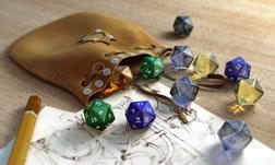 骰子,背包,铅笔,静物maya模型