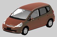 本田小轿车,汽车3D模型