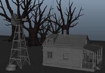 农舍场景maya模型