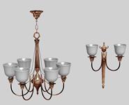 一个水晶吊灯,家居装饰3D模型