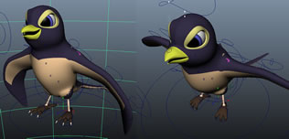 卡通燕子3D模型