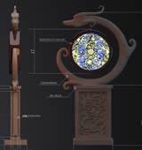 古典龙型灯3D模型可做室内
