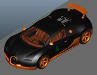 布加迪威龙跑车maya模型