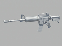 M4机枪maya模型