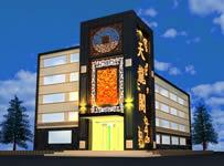酒店外观,酒店建筑3D模型