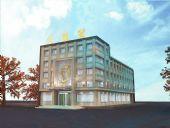 酒店外立面3D模型