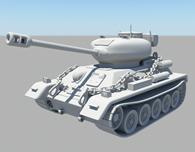 T34坦克车maya模型