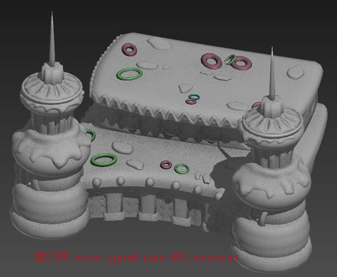 3D卡通场景,卡通房子max模型