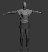 莫云飞,莫丽娜,3D人物模型