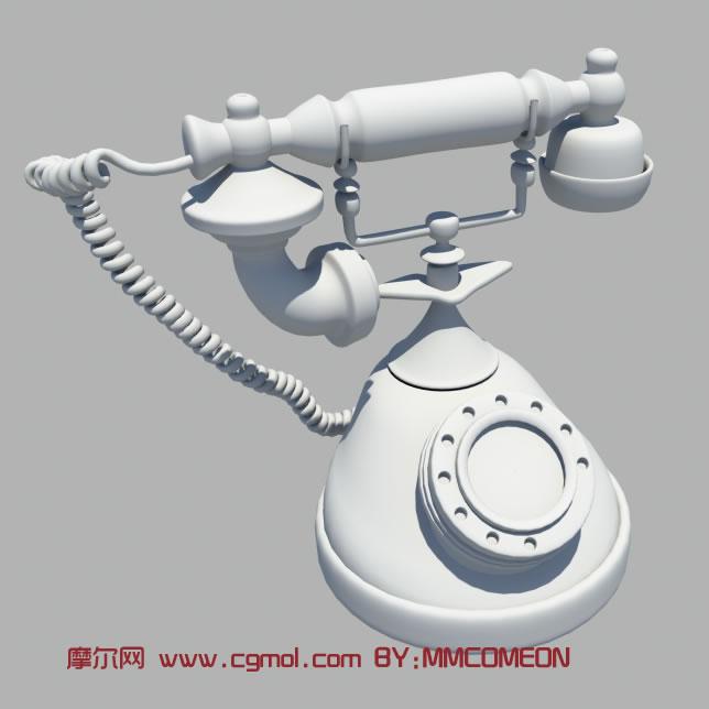 老式电话maya模型高清图片