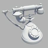 老式电话maya模型