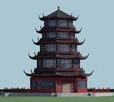 宝塔,中式塔3D模型