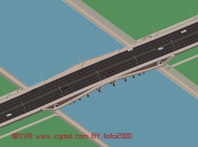 桥,桥梁3d模型