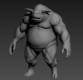 恐怖的怪物3D模型