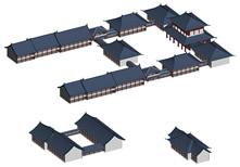 古建筑,中式建筑3D模型