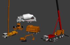 重型机械,建筑机械,搅拌车3D模型
