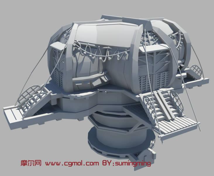 卡通房子maya模型,科幻场景
