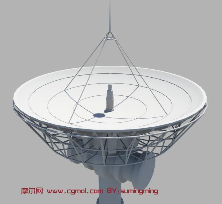 雷达,无线电接收器maya模型