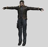 生化危机主角里昂,游戏角色3D模型