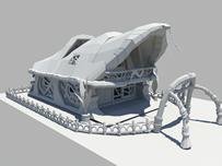 科幻房子maya模型