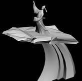 李白举杯邀明月雕塑3D模型