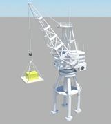 港口,工地吊车,塔吊3D模型