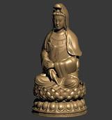 观音菩萨,佛,雕塑3D模型