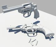 左轮手枪maya模型