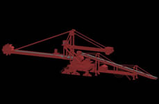 港口堆取料机3D模型