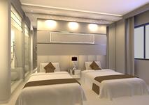 酒店标间房,卧室3D模型