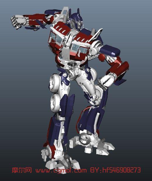 变形金刚擎天柱maya模型 带变形动画 科幻角色 动画角色 高清图片