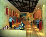 童装店店面,店铺3D模型