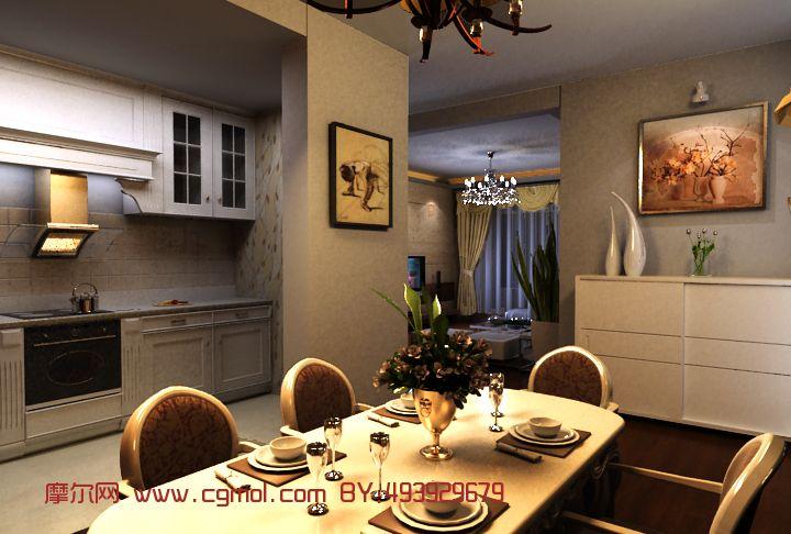 小户型室内设计3d模型